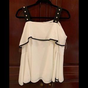 Fancy cold shoulder blouse